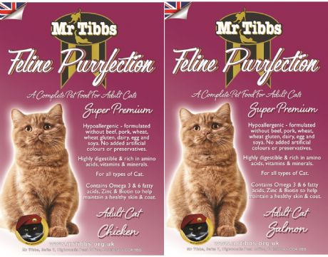 *** SAVE £3.00*** 2 x 7.5kg of SUPER PREMIUM ADULT CAT FOOD ~ 1 ea CHICKEN & SALMON